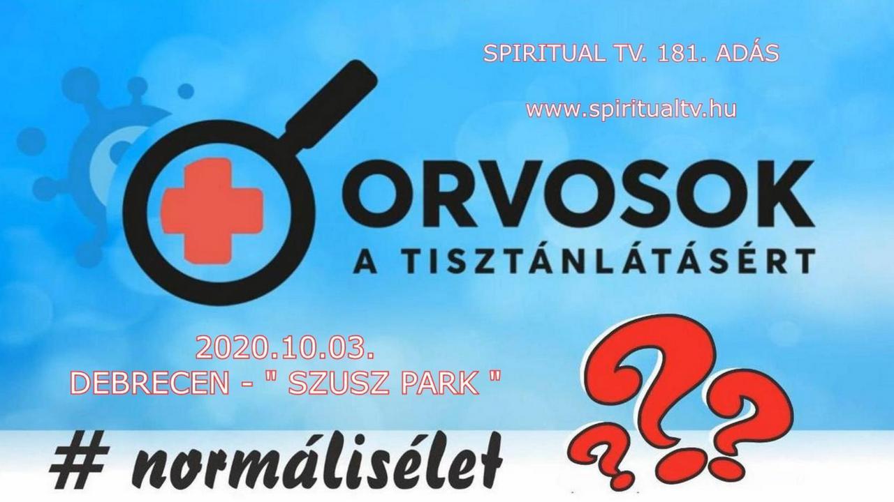 2020.10.03.           SPIRITUAL TV. 181. ADÁS